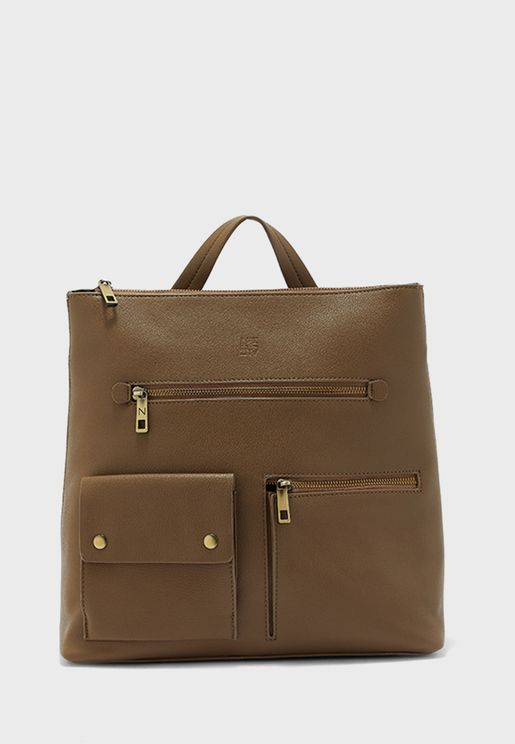 Multi Zip Casual Backpack