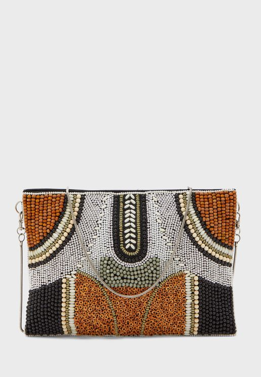 Beaded Patterned Clutch