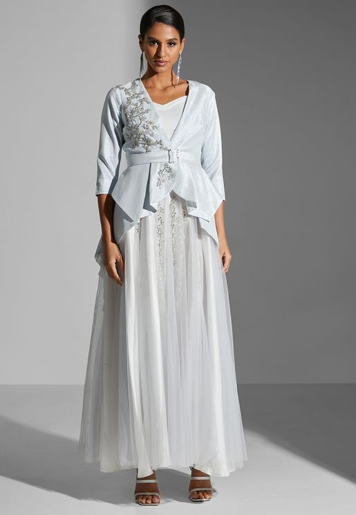 Formal Inner & Jacket Embroidered Dress