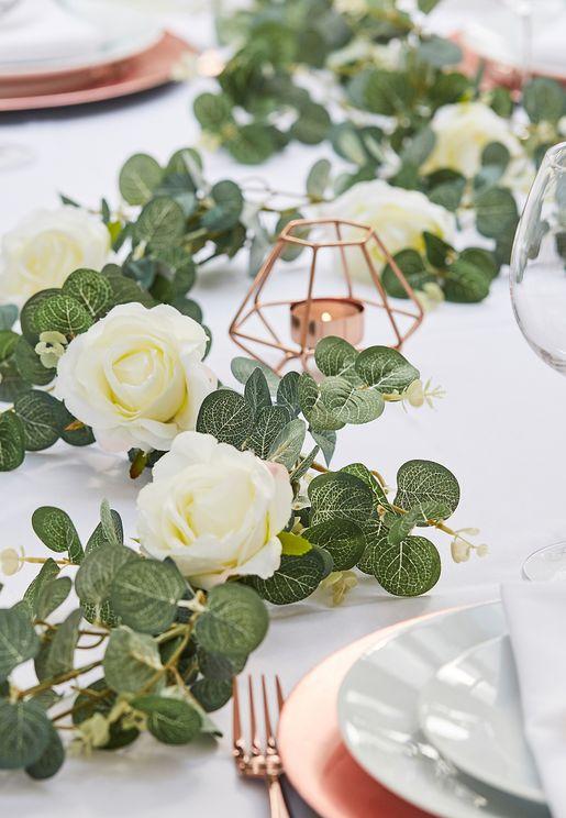 White Flower Garland