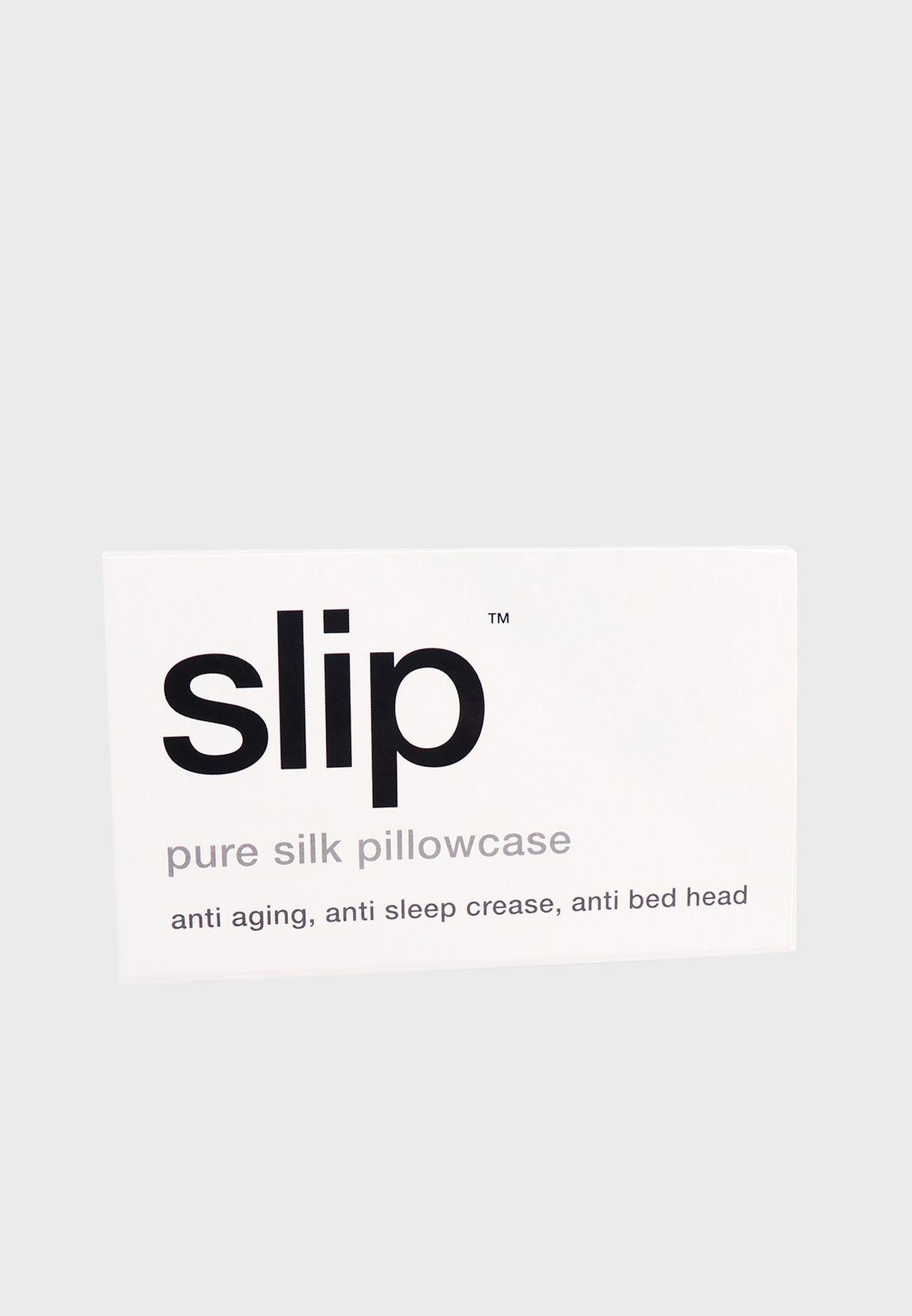 Queen Size Silk Pillow Case - White