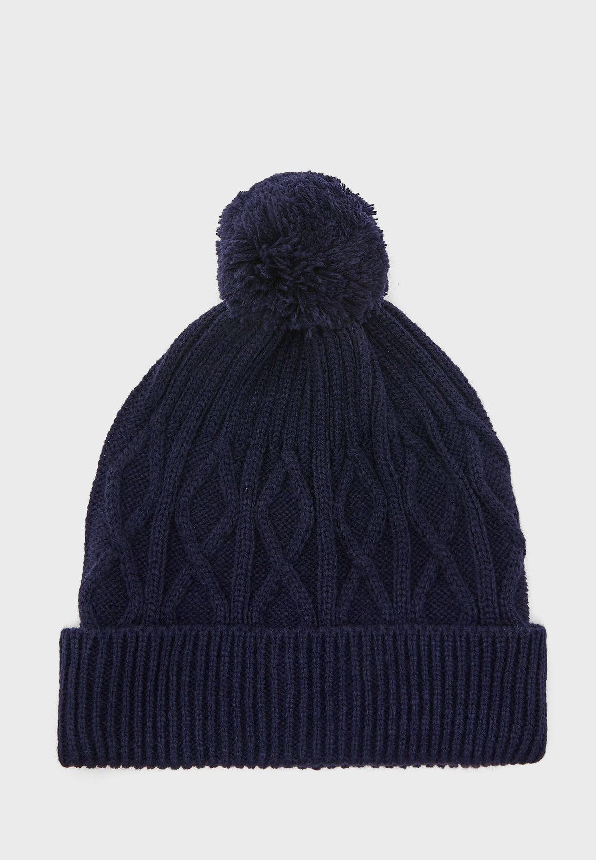Mens Knitted Cable Hat