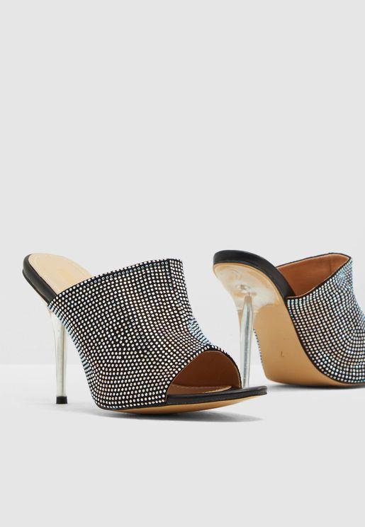 Purr Mid Heel Sandal