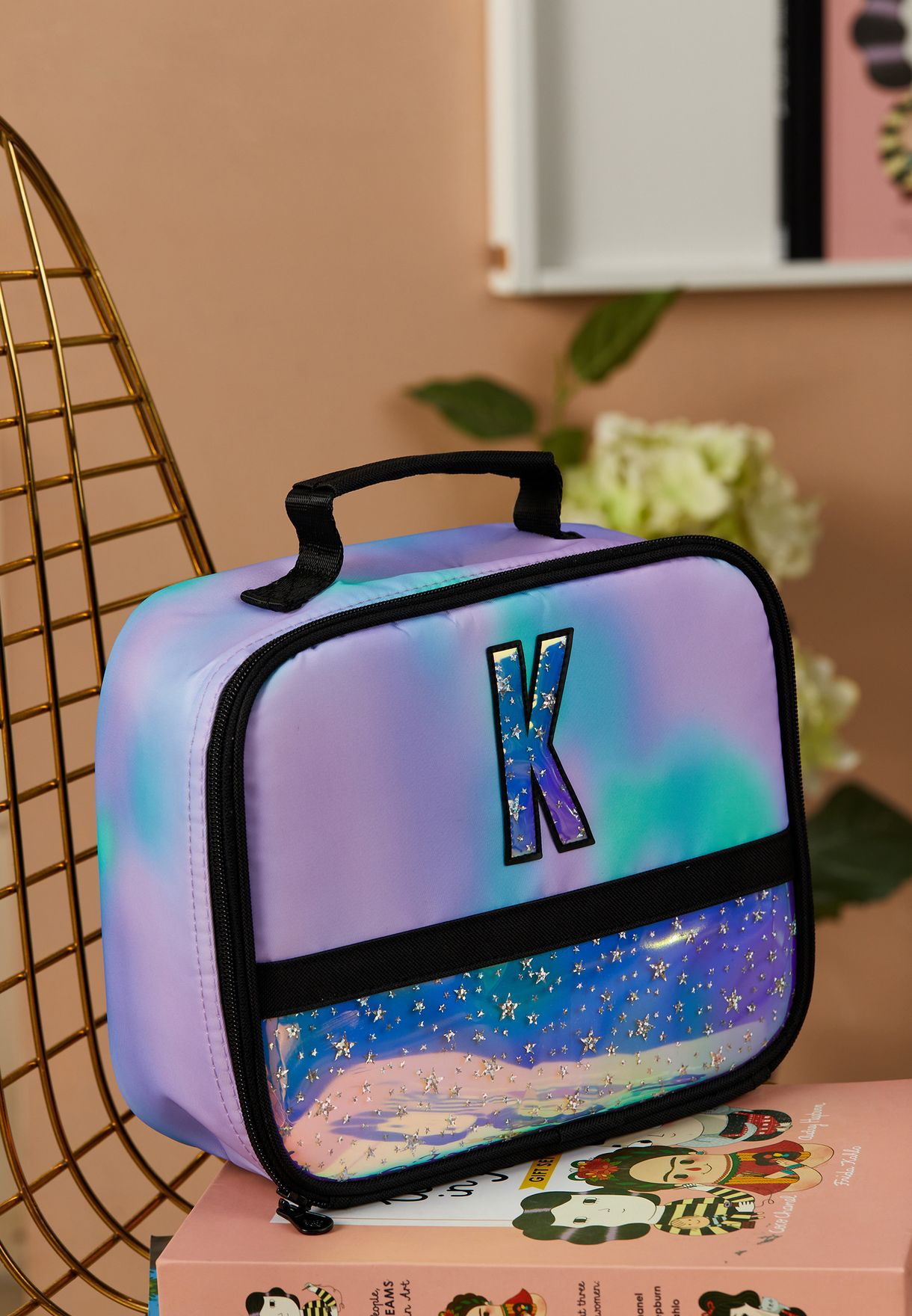 Kids Tie Dye Initial Lunch Tote