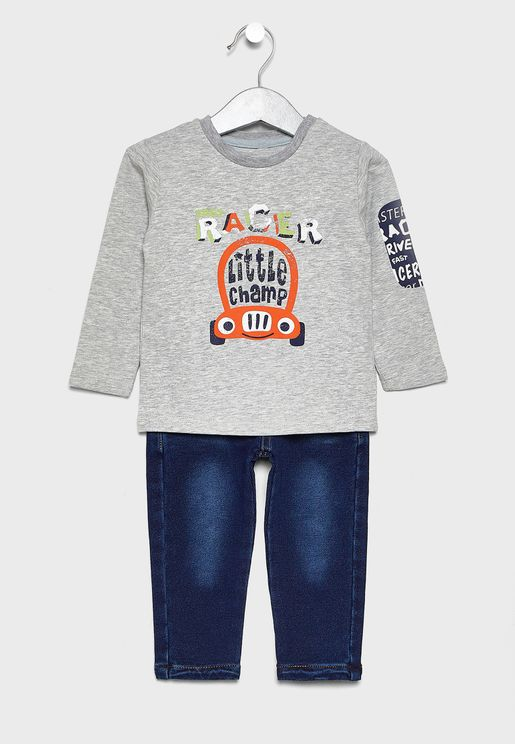Kids Graphic T-Shirt + Jogg Jeans Set
