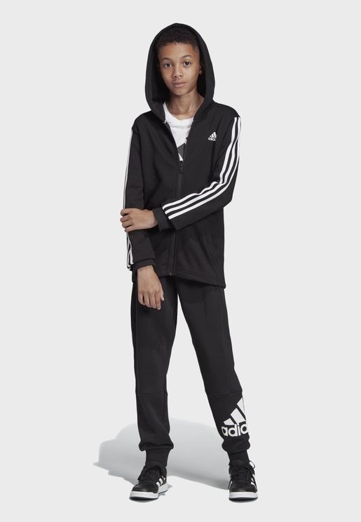 Youth Must Have 3 Stripe Hooded Track Jacket