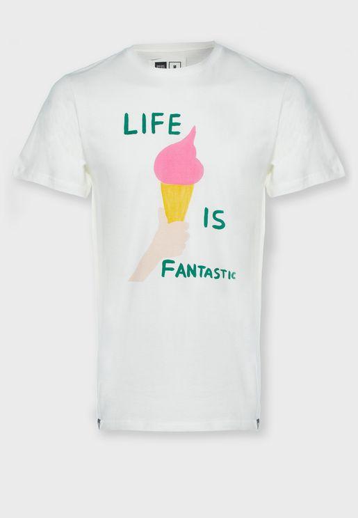 Life Is Fantastic Crew Neck T-Shirt