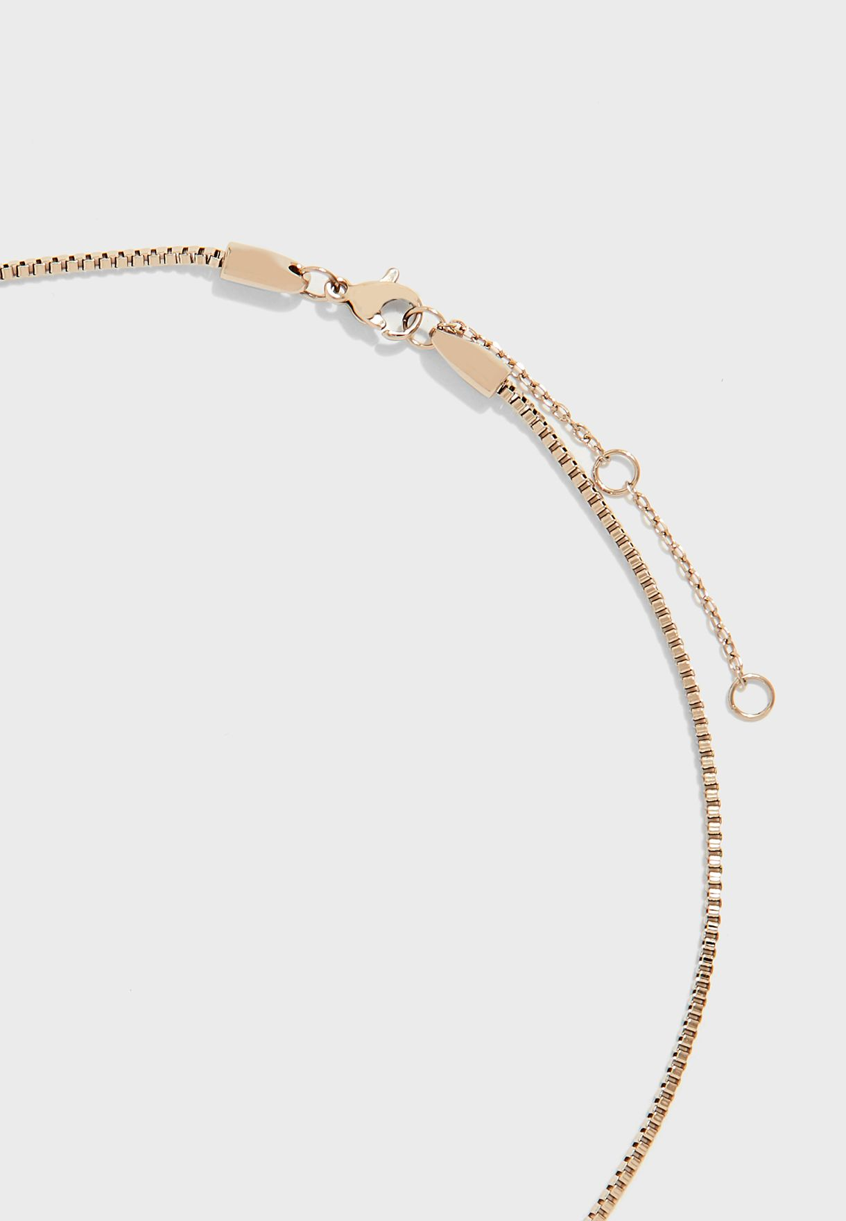 Box Chain Necklace With Charms