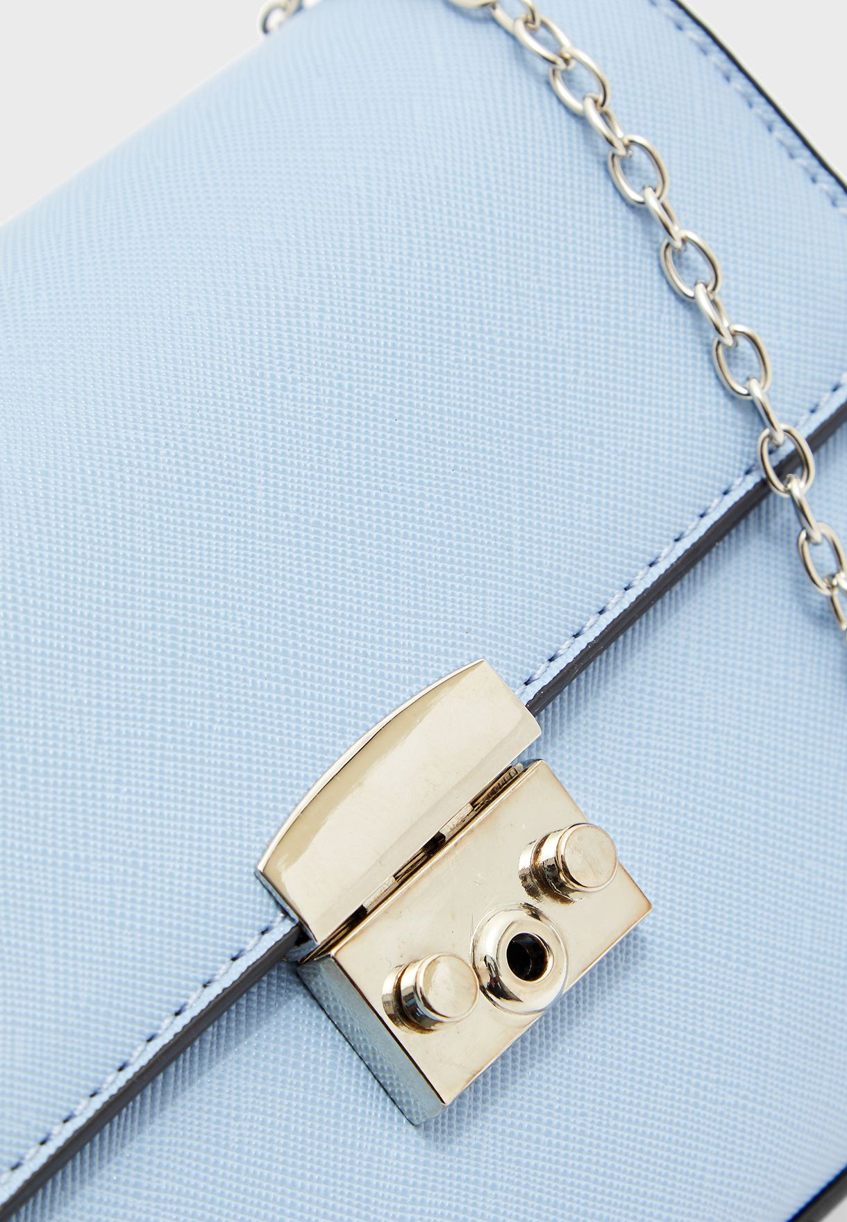 Mini Chain Cross Body with Lock Detail