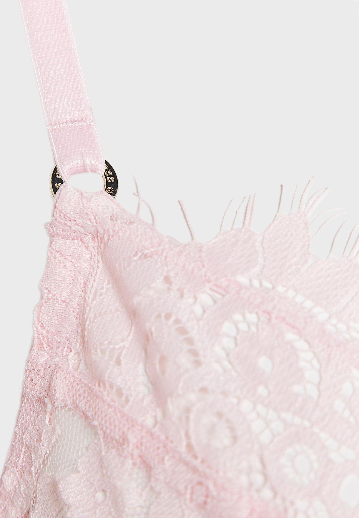 صدرية دانتيل مزينة بأقواس متجاورة