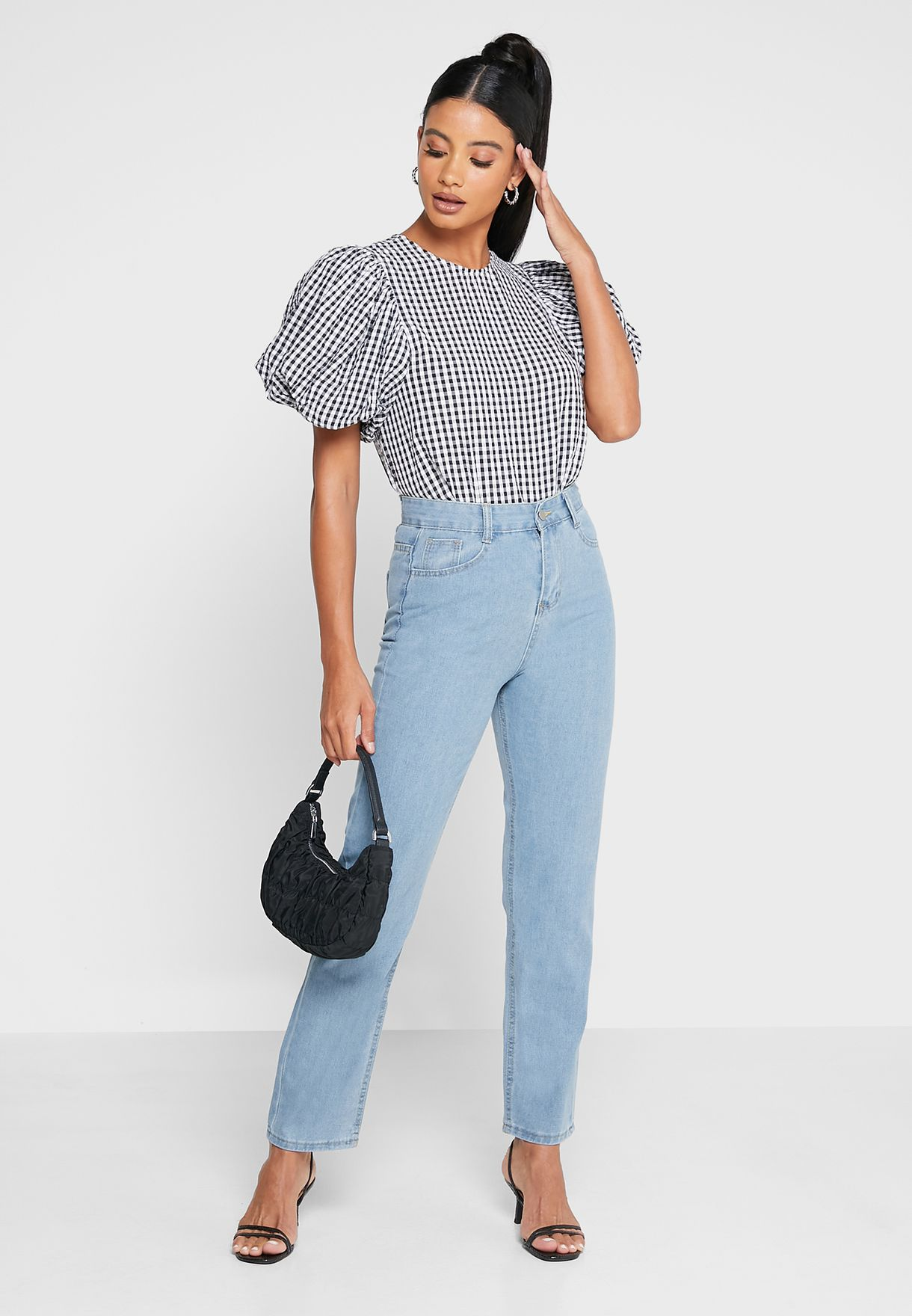 Solid Straight Fit Jeans