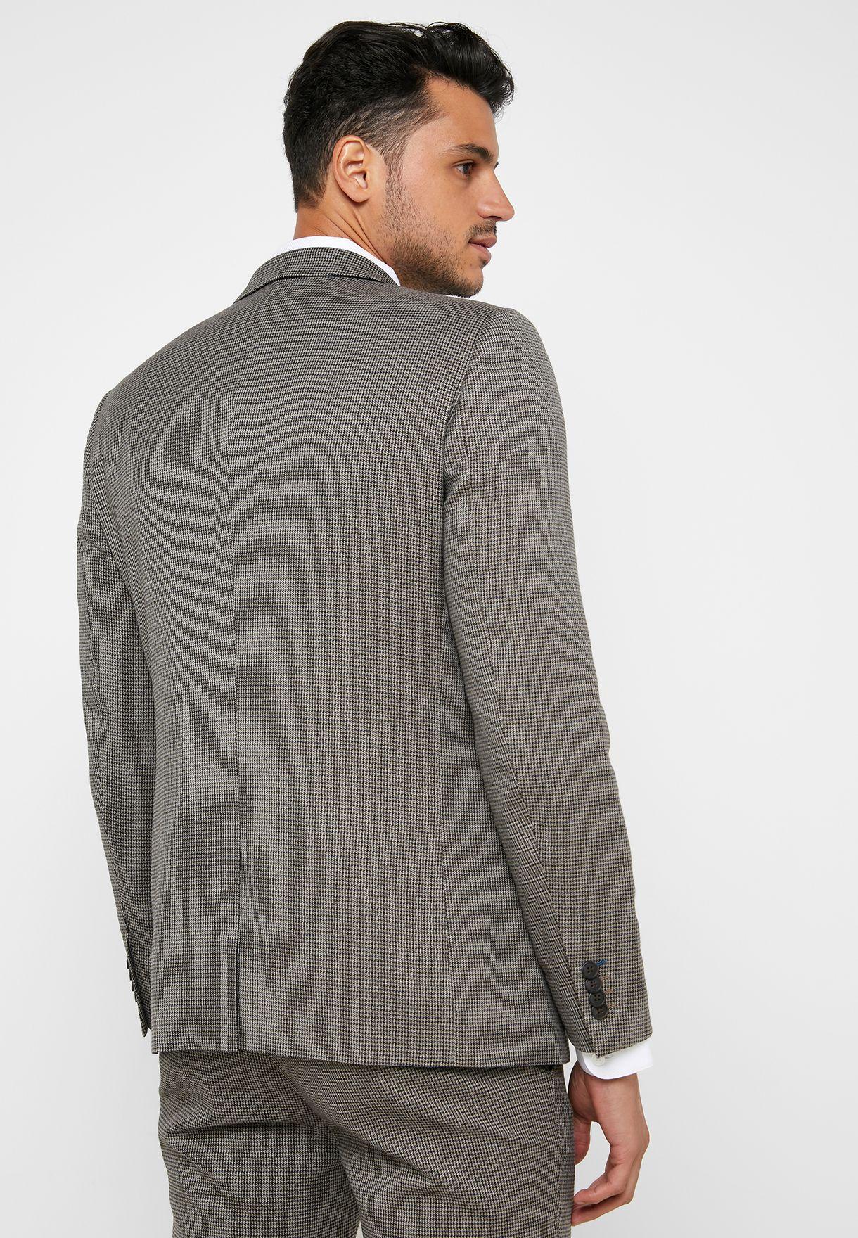 Houndstooth Skinny Fit Jacket