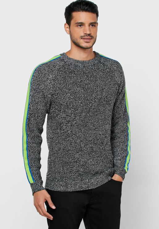 Simon Monostripe Sleeve Sweater