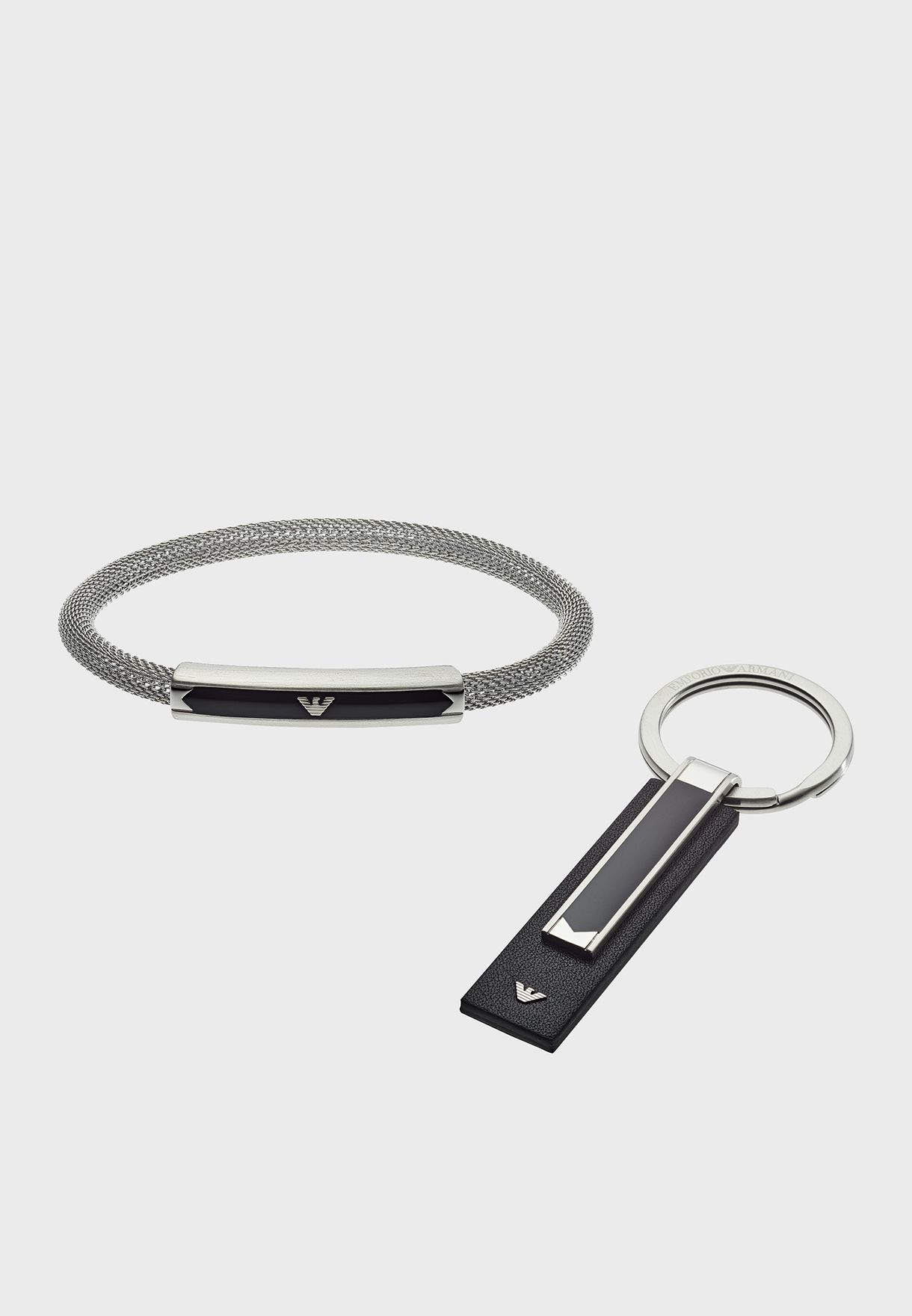 6a4472e3f1 Metal Bracelet + Key Ring Set