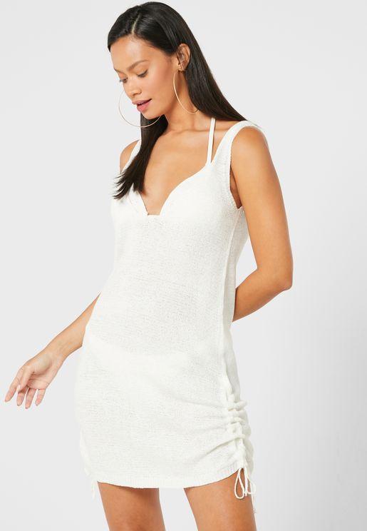 فستان بحر قصير