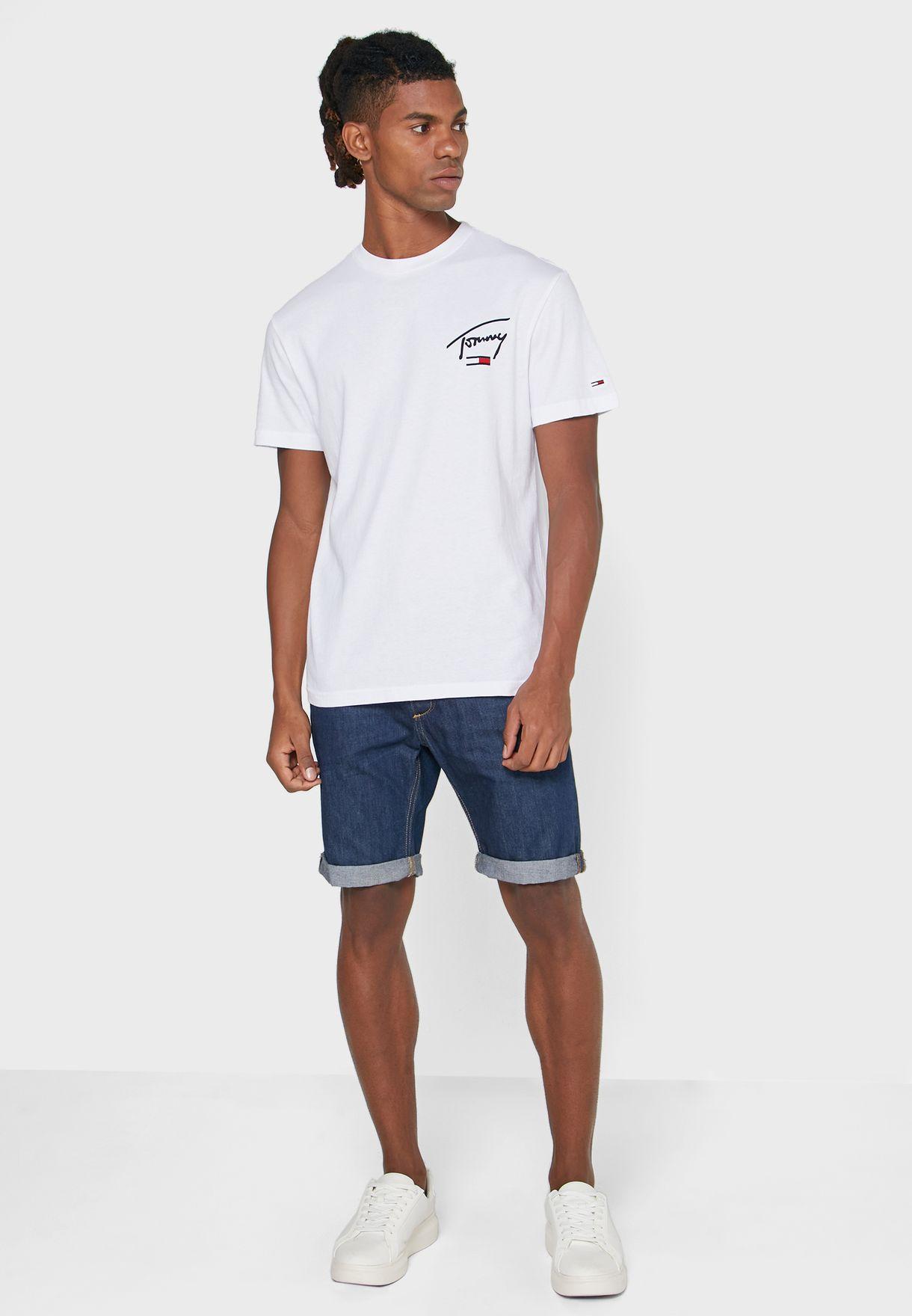 Collegiate Back Logo Crew Neck T-Shirt