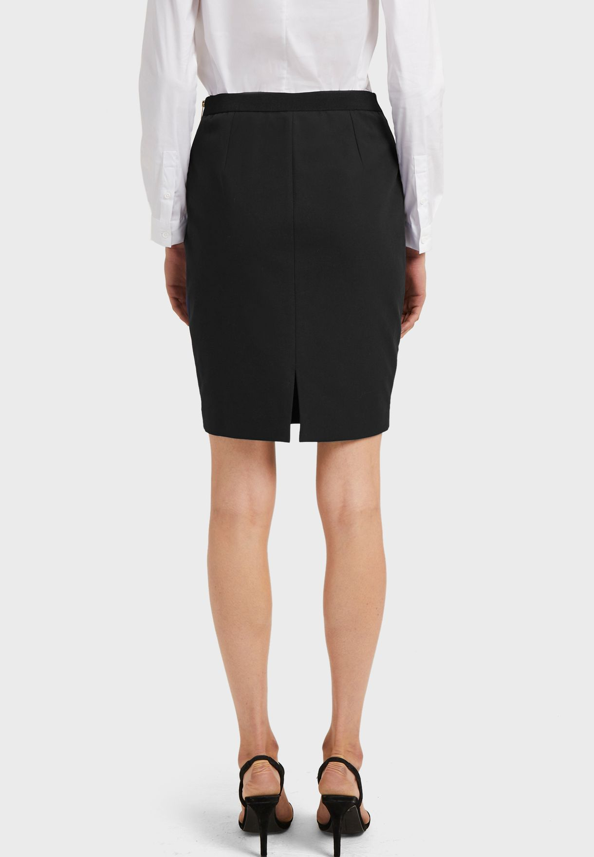 Street Twill Zip Detail Skirt
