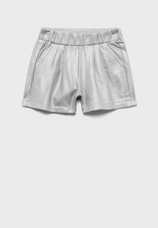 Kids Metallic Shorts