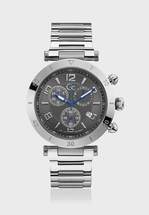 Primeclass Chronograph Metal Strap Watch