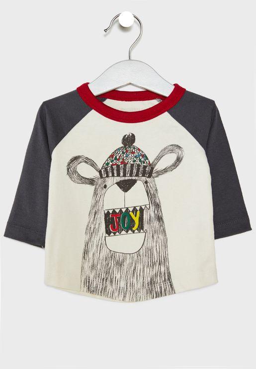Infant Graphic Raglan T-Shirt