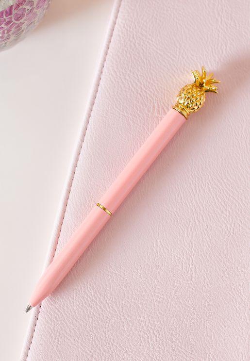 قلم مزين بشكل أناناس