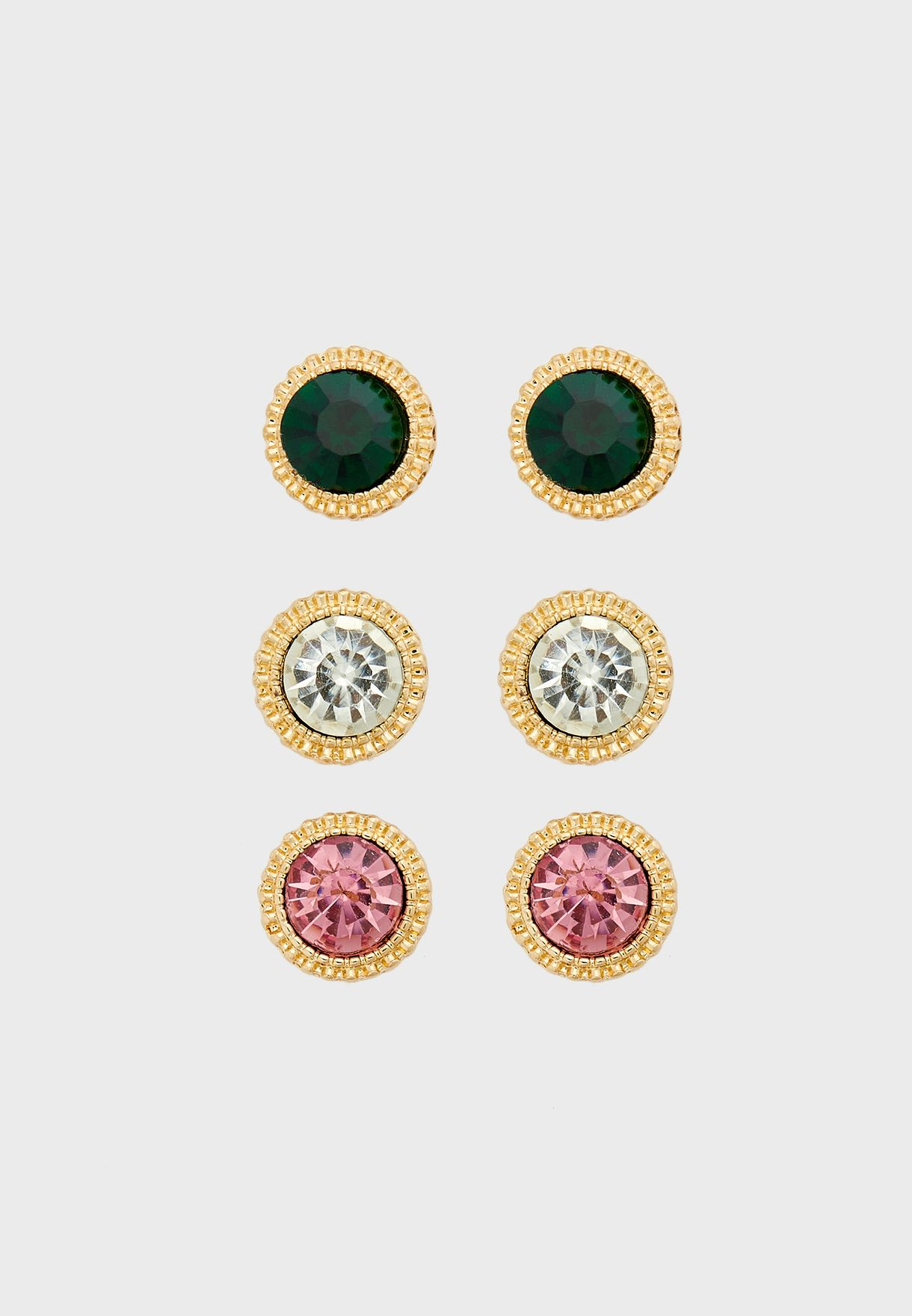 Stone Detail Multipack Earrings