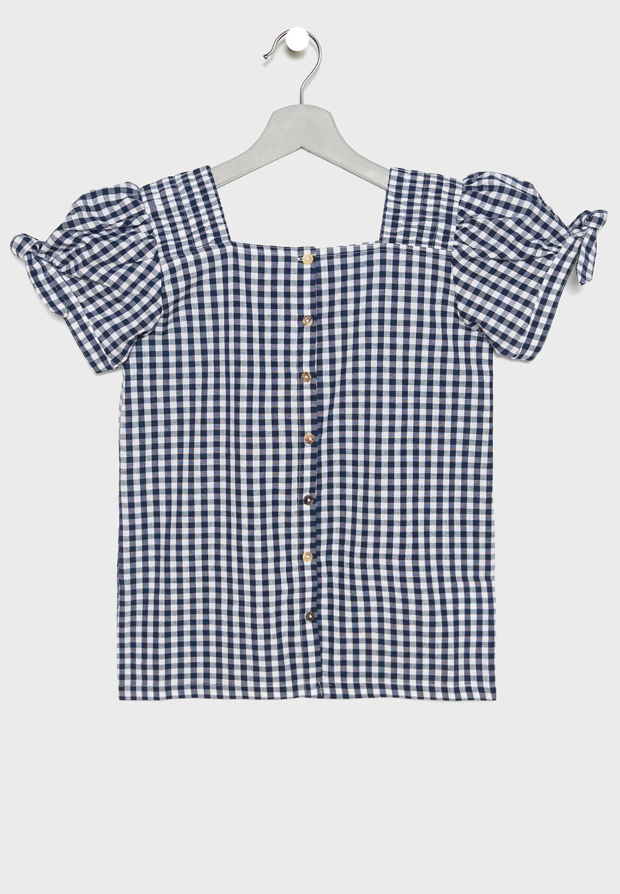 Kids Gingham Shirt