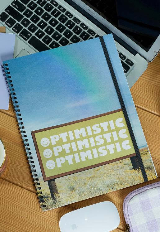 A4 Optimistic Rainbow Spinout Notebook