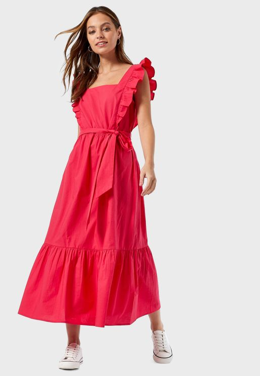 Poplin Midaxi Dress