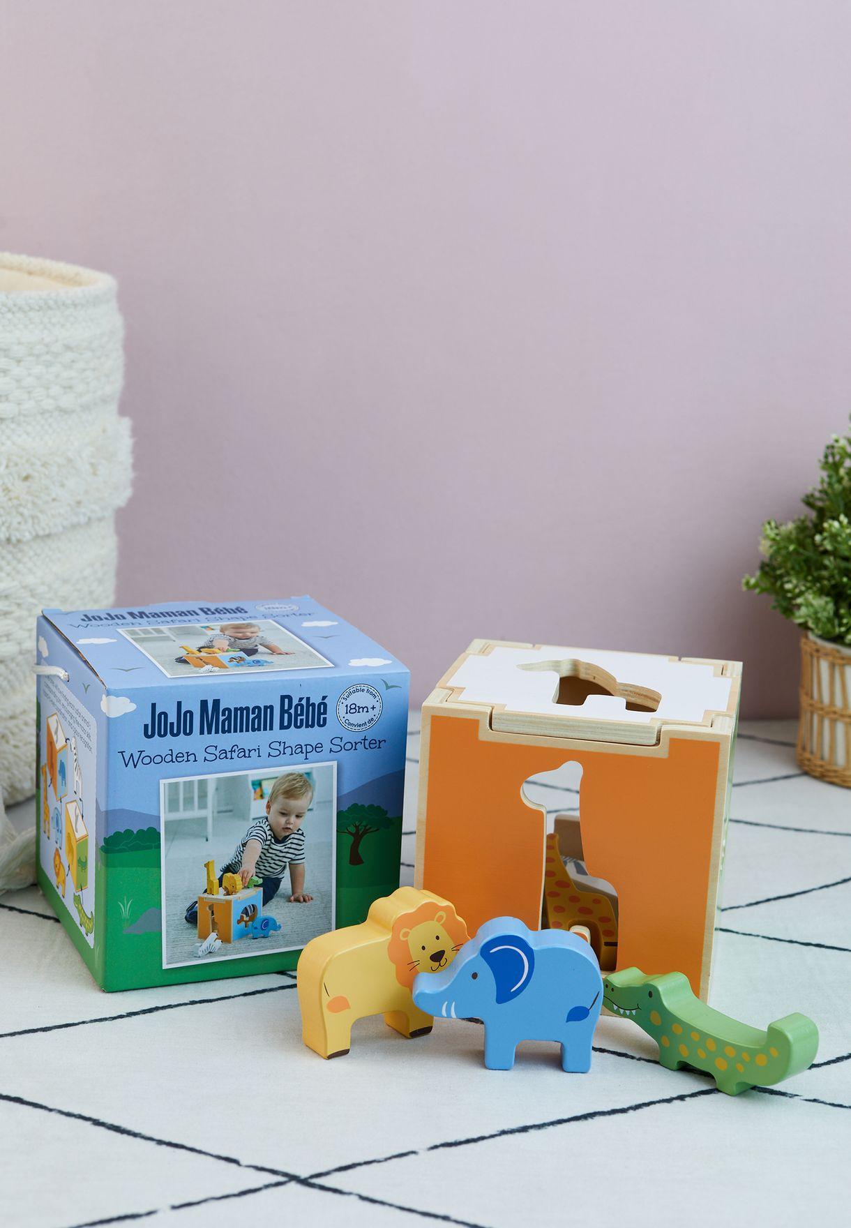 Safari Shape Sorter Cube Toy