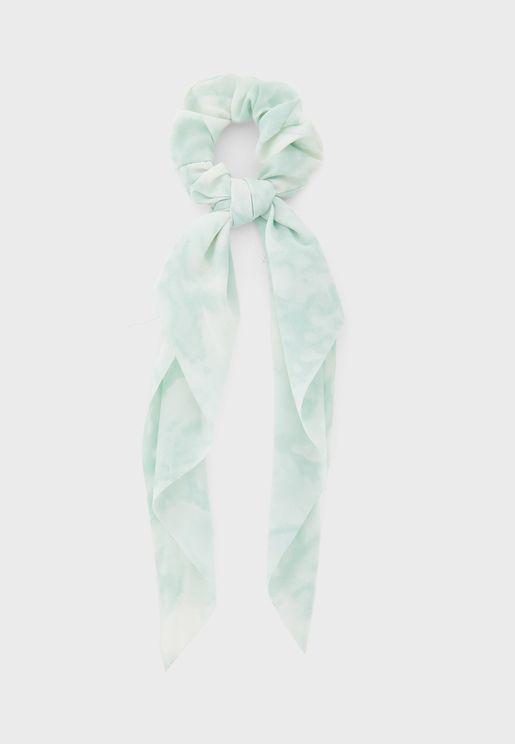 Tie-dye Scarf Scrunchie