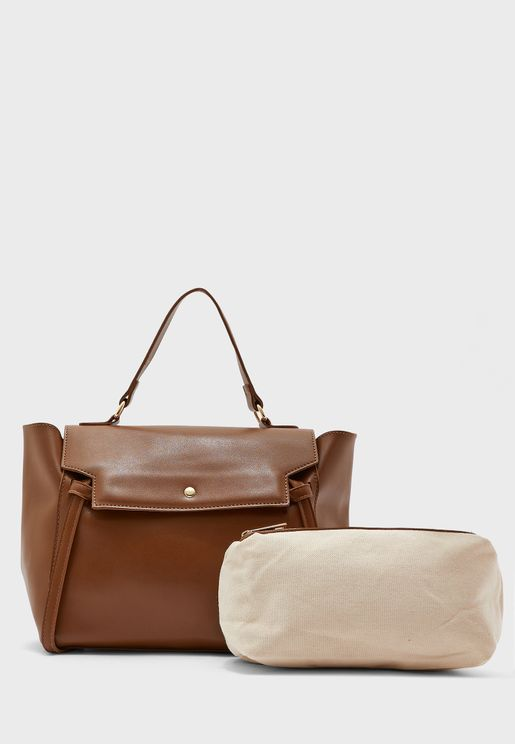 Knot Detail Top Handle Satchel