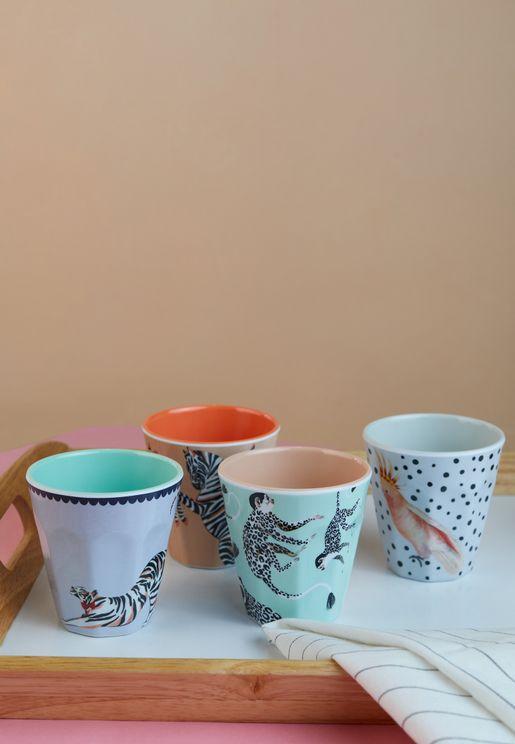 Set Of 4 Melamine Cups