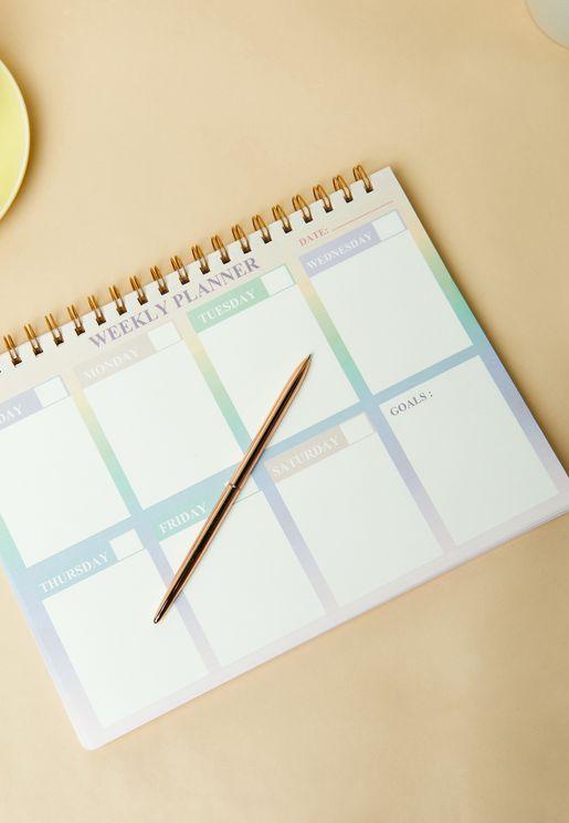 دفتر تخطيط اسبوعي مطبع