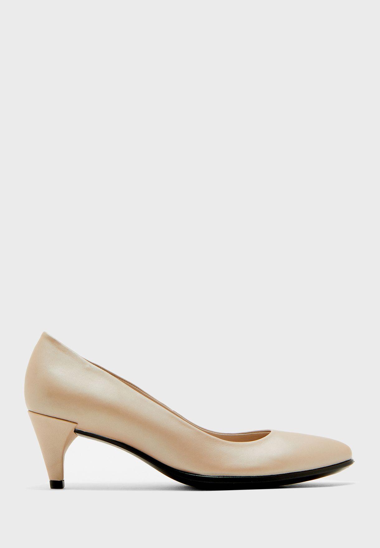 حذاء ميتاليك جلد اصلي