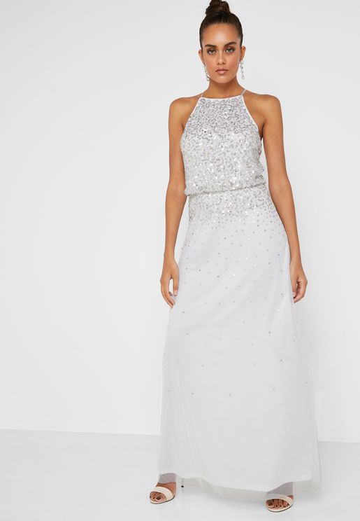 Embellished Bridal Maxi Dress