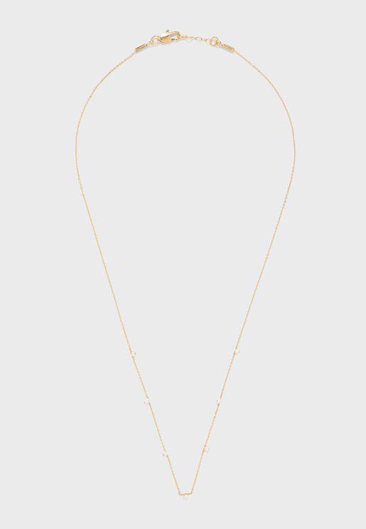 Fine Stone Drop Short Necklace