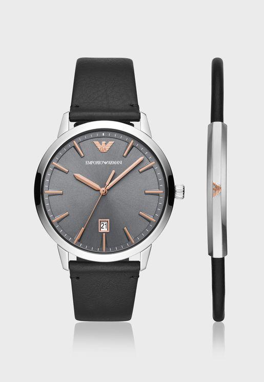 AR80026 Analog Watch + bracelet set