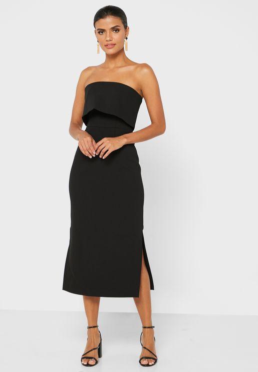 Bardot Overlay Dress