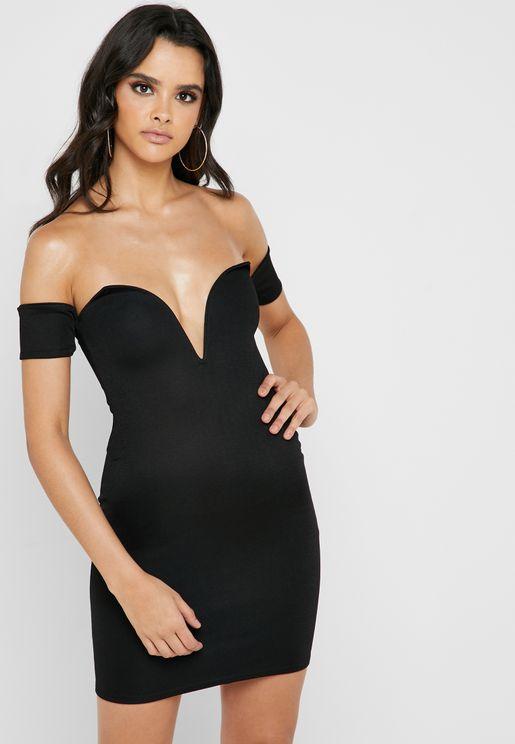 9f1220588f Bardot Plunge Bodycon Dress