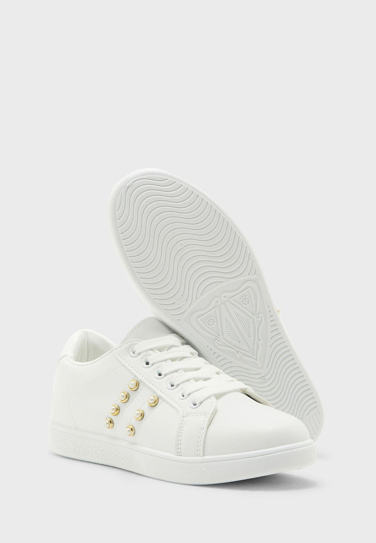 Pearl Detail Sneakers