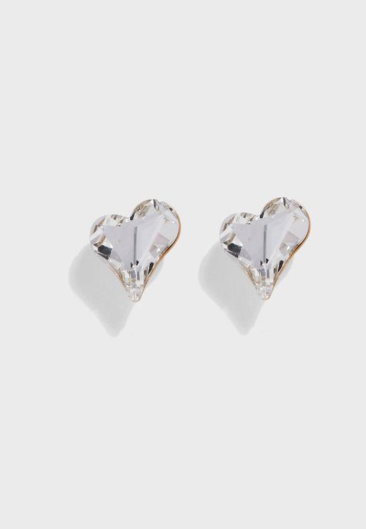 Large Crystal Stud Earrings