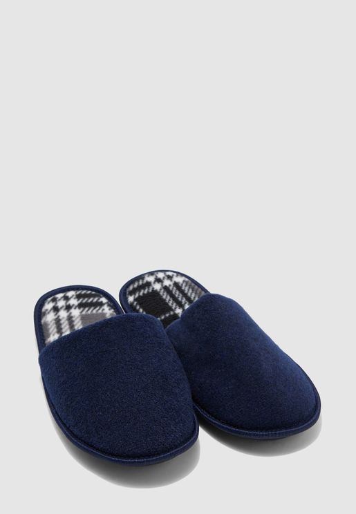 Check Print Soft Bedroom Slippers