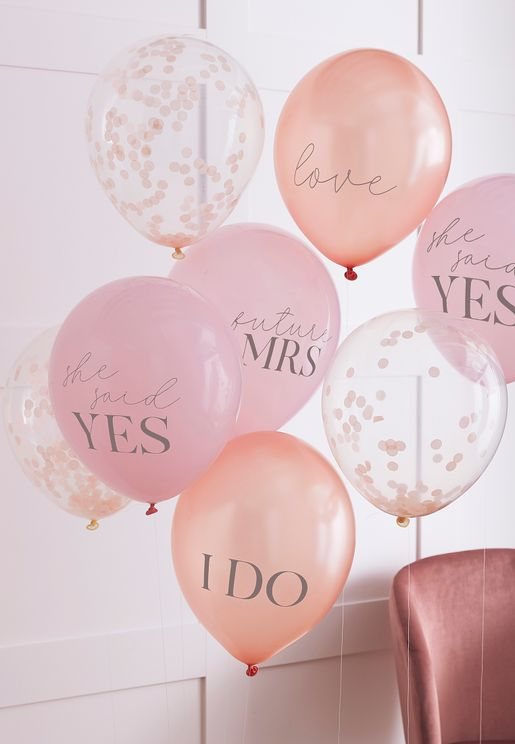 Mixed Pack Slogan And Confetti Balloon