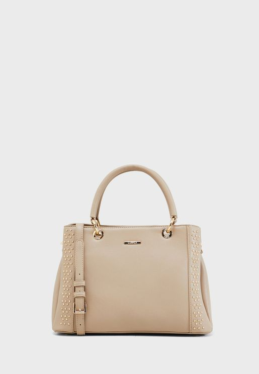 Embellished Trim Ring Detail Tote