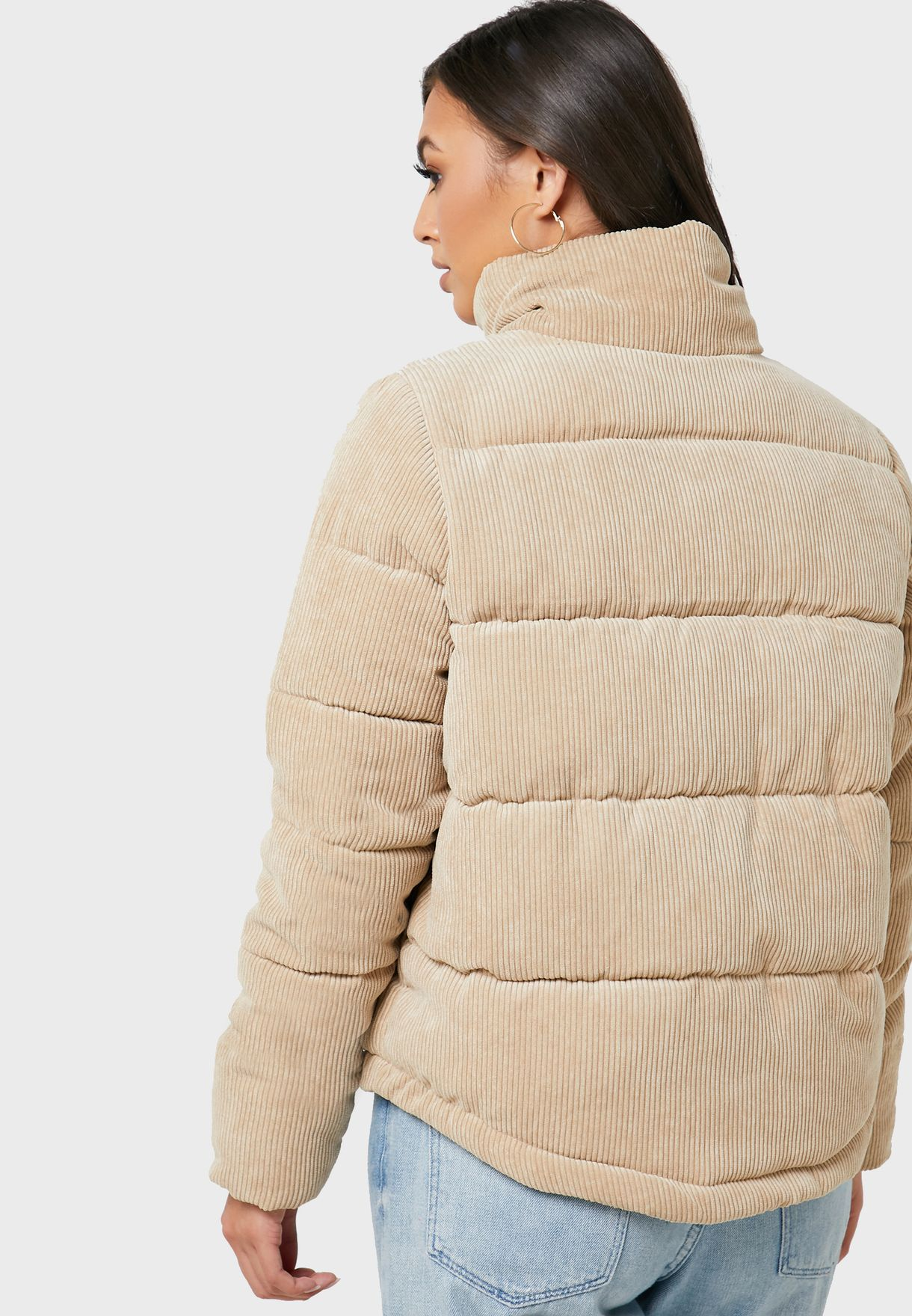 Corduroy Quilted Jacket