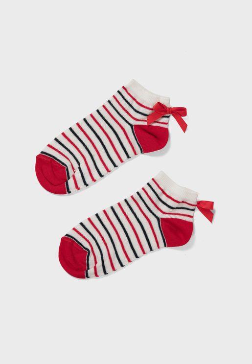 Kids Striped Ankle Socks