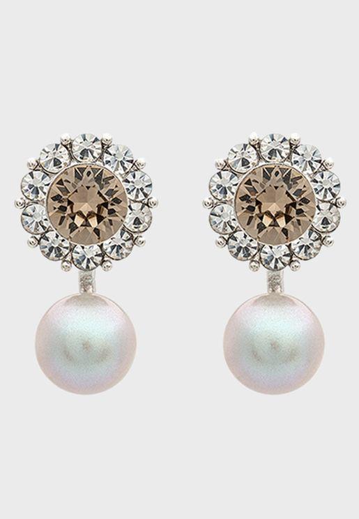 Miss Sofia butterfly Embellished earrings