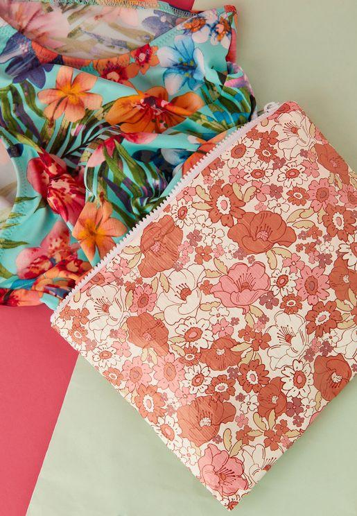 Floral Bikini Bag