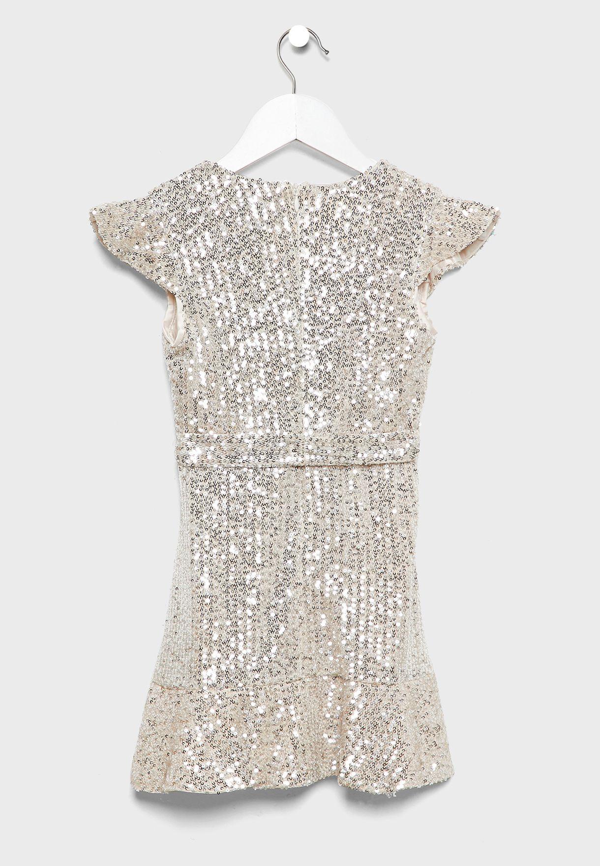 فستان لف مرصع بالترتر